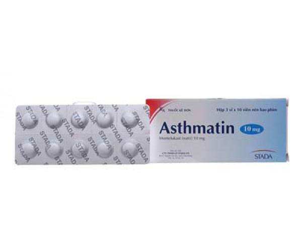Thuốc trị hen suyễn Asthmatin 10mg (3 vỉ x 10 viên/hộp)