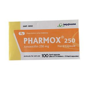 Pharmox 250mg (10 vỉ x 10 viên/hộp)