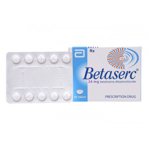 Thuốc trị rối loạn tiền đình Betaserc 24mg (5 vỉ x 10 viên/Hộp)