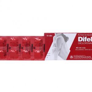 Thuốc giảm đau, kháng viêm Difelene 50mg (10 viên/hộp)
