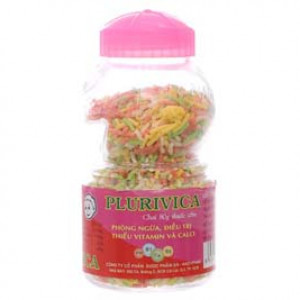 Cốm bổ sung vitamin và canxi Plurivica (80g)