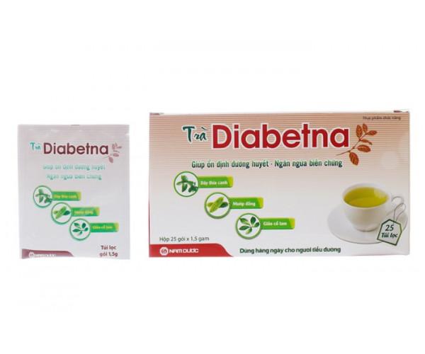 Trà hỗ trợ hạ đường huyết Diabetna (25 gói/Hộp)
