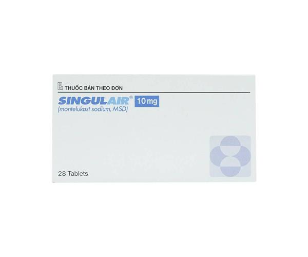 Thuốc trị hen phế quản Singulair 10mg (2 vỉ x 14 viên/hộp)