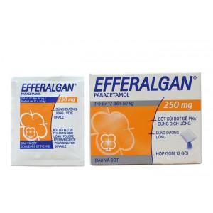 Thuốc giảm đau, hạ sốt trẻ em Efferalgan 250mg (12 gói/hộp)
