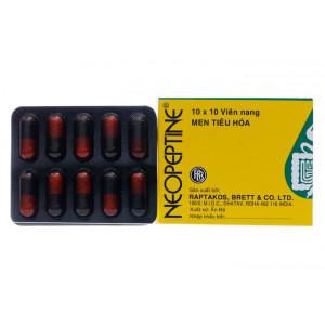 Thuốc điều trị đầy hơi, khó tiêu Neopeptine (10 vỉ x 10 viên/hộp)