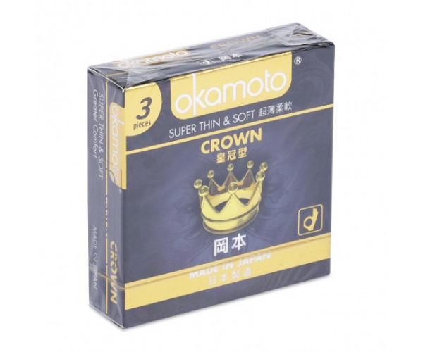 Bao cao su Okamoto Crown (3 cái/hộp)
