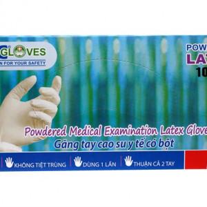 Găng tay cao su y tế có bột HTC Gloves (size L)