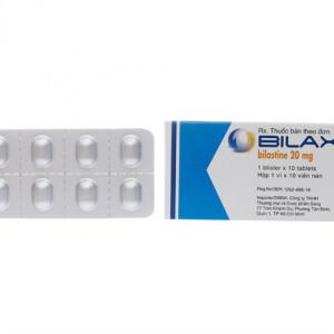 Thuốc chống dị ứng Bilaxten 20mg (1 vỉ x 10 viên/hộp)