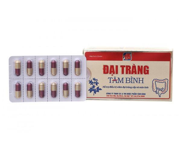Viên uống hỗ trợ điều trị viêm đại tràng cấp và mãn tính Đại Tràng Tâm Bình (5 vỉ x 12 viên/hộp)