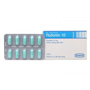Thuốc chống trầm cảm Flutonin 10mg (3 vỉ x 10 viên/hộp)