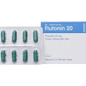 Thuốc chống trầm cảm Flutonin 20mg (3 vỉ x 10 viên/hộp)