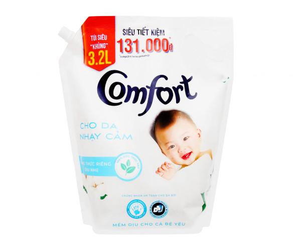Nước xả cho bé Comfort cho da nhạy cảm hương phấn (3.2 lít)