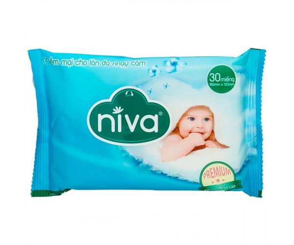 Khăn ướt em bé không mùi hương Niva Baby (30 miếng)