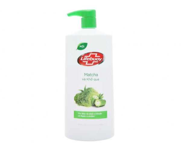 Sữa tắm detox bảo vệ khỏi vi khuẩn Lifebuoy matcha và khổ qua (850g)
