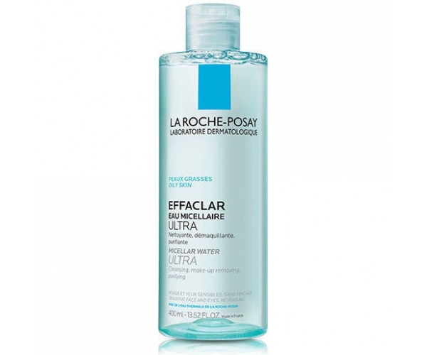 Nước tẩy trang làm sạch sâu dành cho da dầu nhạy cảm La Roche-Posay Effaclar Micellar Water Ultra Oily Skin (400ml)