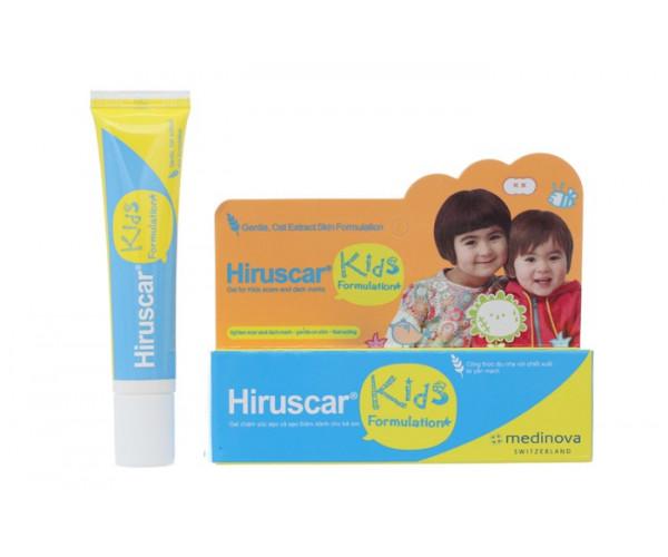 Gel cải thiện sẹo và vết thâm cho trẻ Hiruscar Kids (10g)