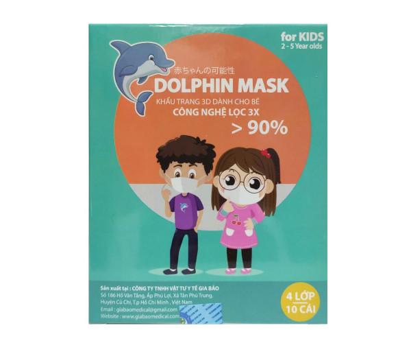 Khẩu trang 3D trẻ em  Dolphin Mask (10 chiếc/hộp)