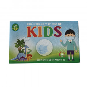 Khẩu trang y tế cho bé Kids (10 chiếc/hộp)