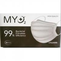 Khẩu trang y tế MYO2 4 lớp màu trắng (50 Chiếc/Hộp)