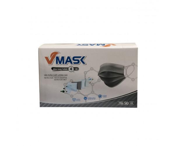 Khẩu trang y tế Vmask 4 lớp màu trắng (50 chiếc/hộp)