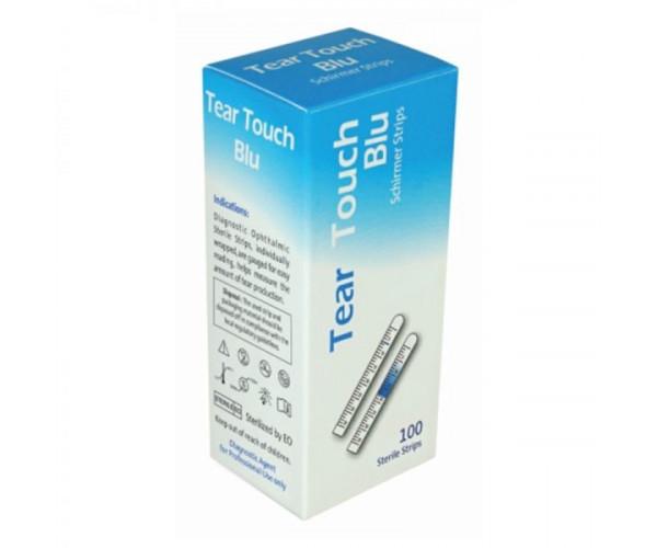 Que test thử khô mắt có vạch chỉ thị màu Tear Touch Blu Schirmer Strips (100 que/hộp)