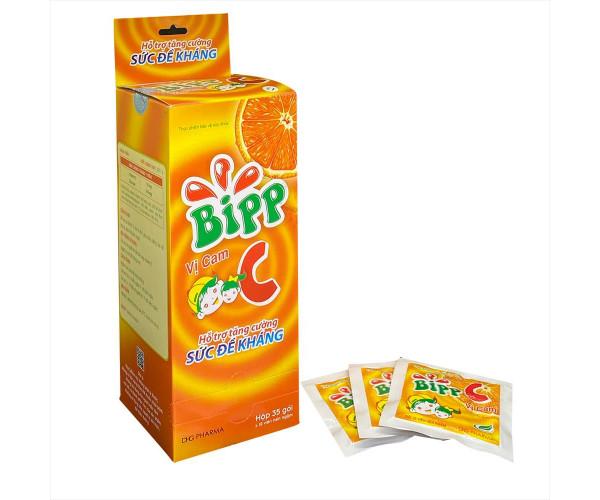 Viên ngậm tăng sức đề kháng vị cam Bipp C (35 gói/hộp)