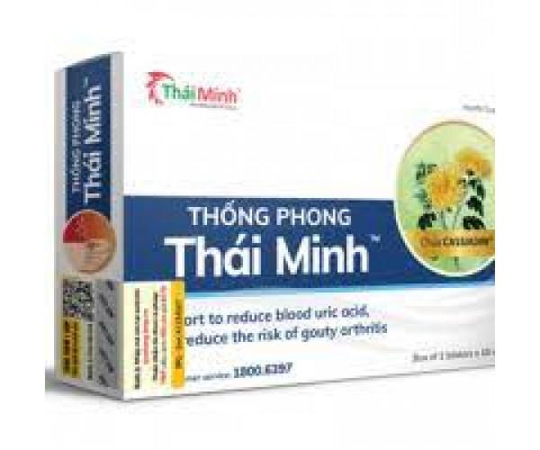 Viên uống hỗ trợ điều trị viêm khớp do gout Thống Phong Thái Minh (2 vỉ x 10 viên/hộp)