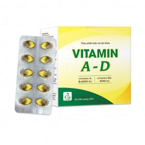 Viên uống bổ sung Vitamin A-D Tv.pharm (10 vỉ x 10 viên/hộp)