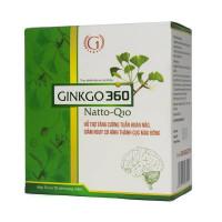 Viên uống tăng cường tuần hoàn máu Ginkgo 360 Natto Q10 (10 vỉ x 10 viên/hộp)