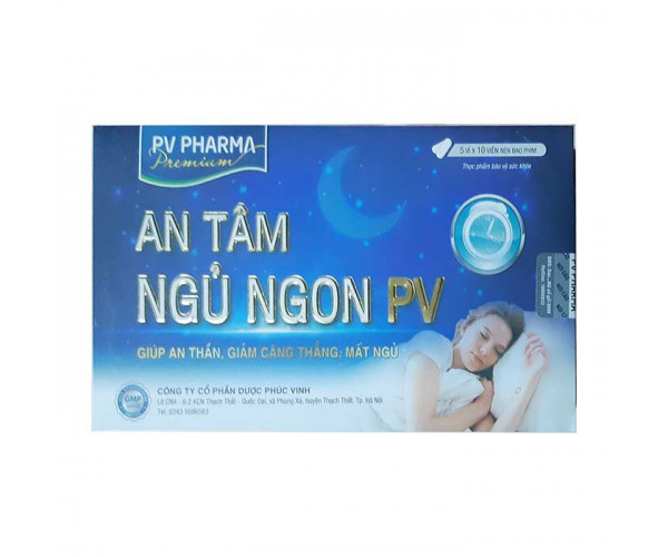 Viên uống An Tâm Ngủ Ngon PV (5 vỉ x 10 viên/hộp)