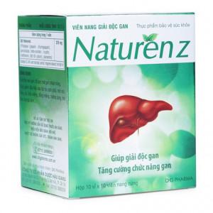 Viên uống giúp hạ men gan, giải độc gan Naturen Z (10 vỉ x 10 viên/hộp)