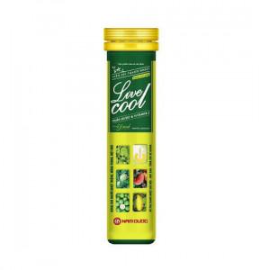 Viên sủi thanh nhiệt Live cool hương chanh(16 viên/tube)