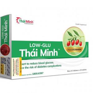 Viên uống hỗ trợ giảm đường huyết, giảm nguy cơ biến chứng do tiểu đường LOW-GLU Thái Minh (2 vỉ x 10 viên/hộp)
