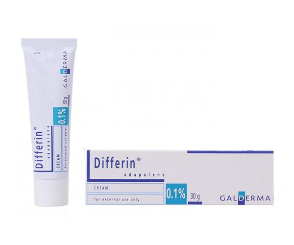 Kem trị mụn trứng cá Differin Cream 0.1% (30g)