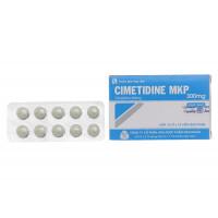 Thuốc trị loét dạ dày, tá tràng Cimetidine MKP 300mg (10 vỉ x 10 viên/hộp)