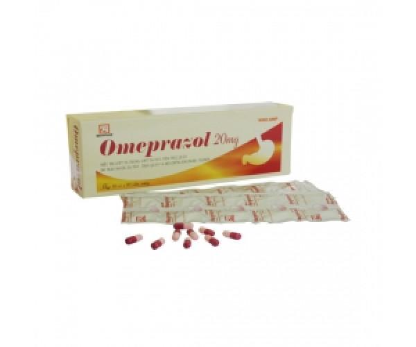 Thuốc điều trị loét dạ dày tá tràng Omeprazol 20mg Nadyphar (10 vỉ x 10 viên/hộp)