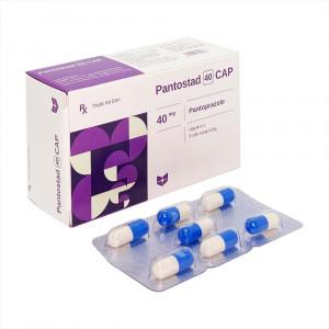 Thuốc điều trị loét dạ dày - tá tràng Pantostad CAP 40mg (4 vỉ x 7 viên/hộp)