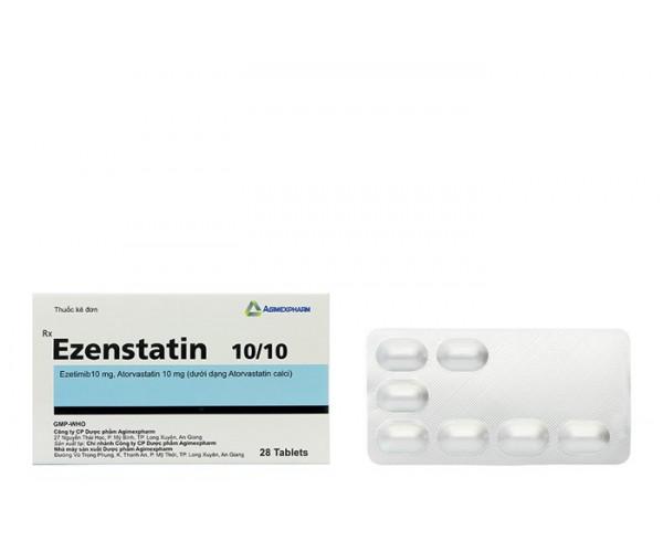 Thuốc điều trị mỡ máu Ezenstatin 10mg/10mg (4 vỉ x 7 viên/hộp)