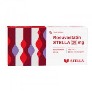 Thuốc trị mỡ máu Rosuvastatin Stella 20mg (3 vỉ x 10 viên/hộp)
