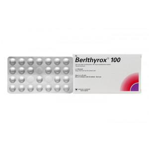 Thuốc trị bệnh lý tuyến giáp Berlthyrox 100mcg (4 vỉ x 25 viên/hộp)