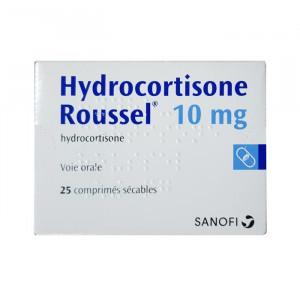 Thuốc trị suy thượng thận Hydrocortisone Roussel 10mg (25 viên/hộp)