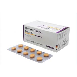 Thuốc trị bệnh lý tuyến giáp Thyrozol 10mg (10 vỉ x 10 viên/hộp)