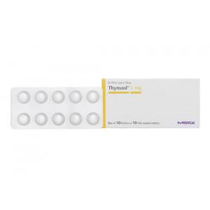 Thuốc trị bệnh lý tuyến giáp Thyrozol 5mg (10 vỉ x 10 viên/hộp)
