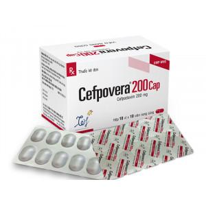 Thuốc kháng sinh Cefpovera 200mg (10 vỉ x 10 viên/hộp)