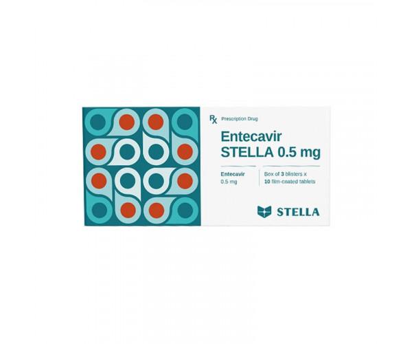 Thuốc điều trị viêm gan B Entecavir Stella 0.5mg (3 vỉ x 10 viên/hộp)