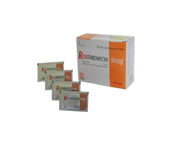 Thuốc kháng sinh Roxithromycin 50mg Nadyphar (30 gói/hộp)