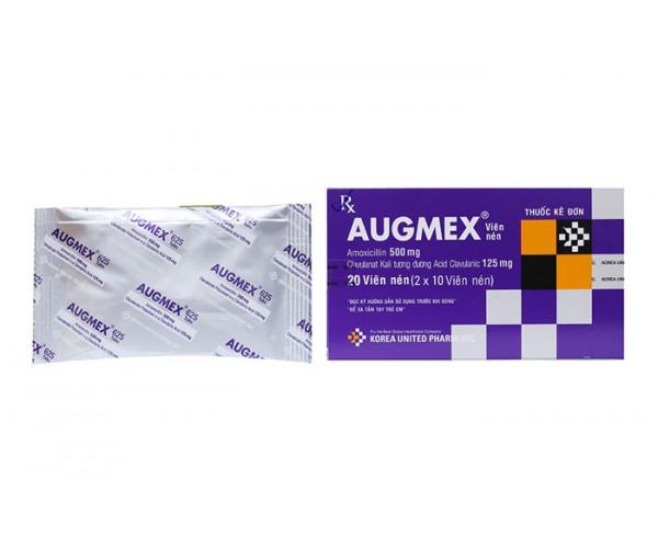 Thuốc kháng sinh Augmex 625mg (2 vỉ x 10 viên/hộp)