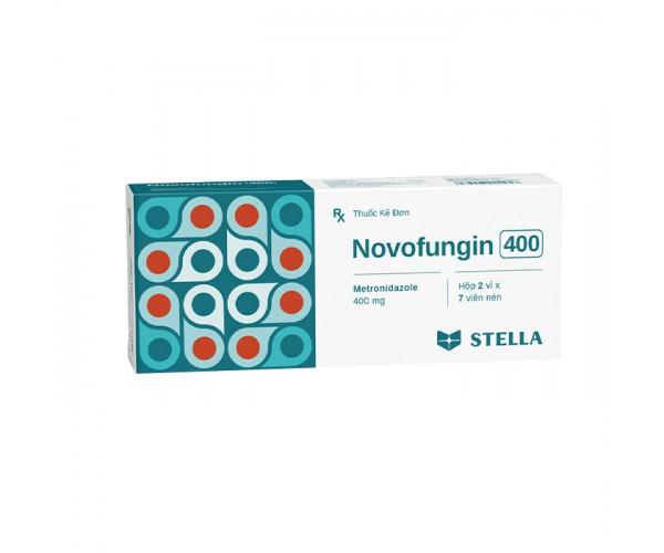 Thuốc kháng sinh Novofungin 400mg (2 vỉ x 7 viên/hộp)