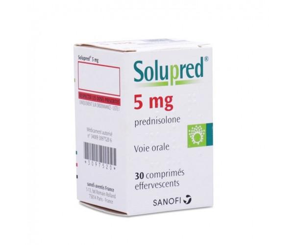 Thuốc kháng viêm Solupred 5mg (30 viên/lọ)
