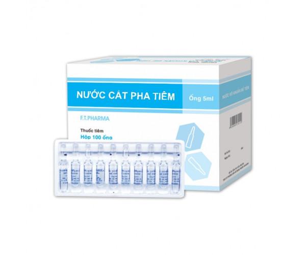 Nước cất pha tiêm F.T.Pharma 5ml (100 ống/hộp)